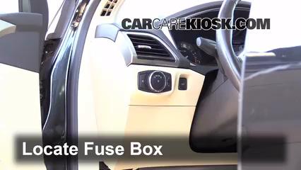 Interior Fuse Box Location: 2013-2019 Ford Fusion - 2013 Ford Fusion SE  2.0L 4 Cyl. Turbo | 2015 Ford Fusion Dash Fuse Box |  | CarCareKiosk
