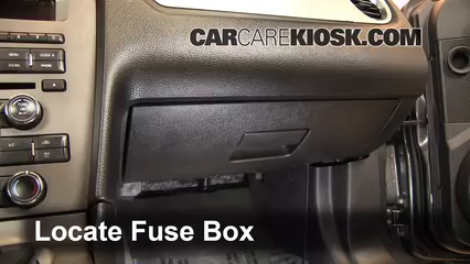 Interior Fuse Box Location: 2010-2014 Ford Mustang - 2013 Ford Mustang 3.7L  V6 Convertible | 2014 Mustang Fuse Box Location |  | CarCareKiosk