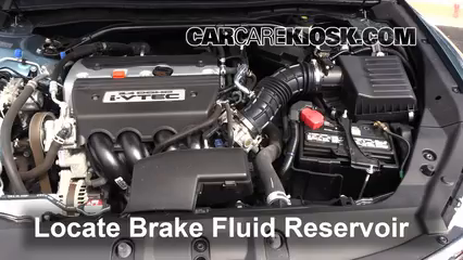 2013 Honda Crosstour EX-L 2.4L 4 Cyl. Brake Fluid
