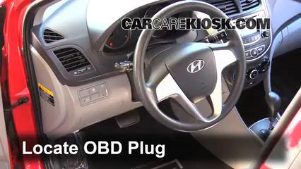 2013 Hyundai Accent GLS 1.6L 4 Cyl. Lumière « Check engine » du moteur