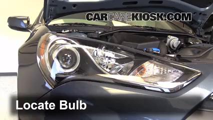 2013 Hyundai Genesis Coupe 2.0T Premium 2.0L 4 Cyl. Turbo Luces Luz de carretera (reemplazar foco)