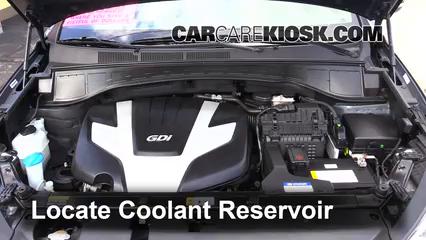 2013 Hyundai Santa Fe GLS 3.3L V6 Refrigerante (anticongelante) Cambiar refrigerante