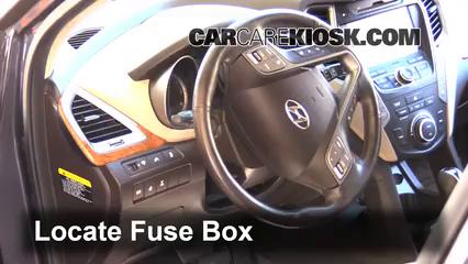 2013 Hyundai Santa Fe GLS 3.3L V6 Fusible (interior) Cambio
