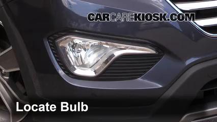 2013 Hyundai Santa Fe GLS 3.3L V6 Lights Fog Light (replace bulb)