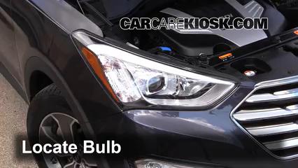2013 Hyundai Santa Fe GLS 3.3L V6 Luces Luz de carretera (reemplazar foco)