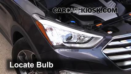 2013 Hyundai Santa Fe GLS 3.3L V6 Luces Luz de giro delantera (reemplazar foco)