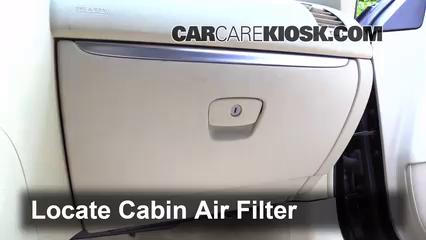 2013 Infiniti FX37 3.7L V6 Filtre à air (intérieur)