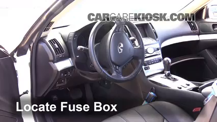2013 Infiniti G37 X 3.7L V6 Coupe Fusible (intérieur)