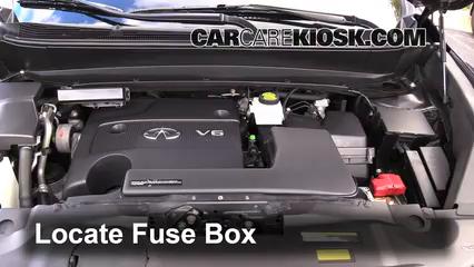 Replace a Fuse: 2013-2013 Infiniti JX35 - 2013 Infiniti JX35 3.5L V6CarCareKiosk