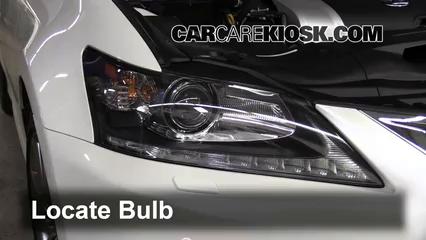 2013 Lexus GS350 3.5L V6 Lights Turn Signal - Front (replace bulb)