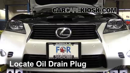 2013 Lexus GS350 3.5L V6 Oil Change Oil and Oil Filter