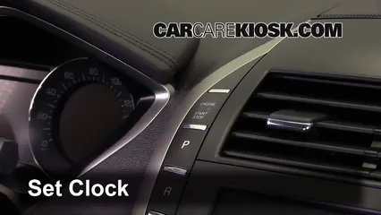 2013 Lincoln MKZ 2.0L 4 Cyl. Turbo Reloj Fijar hora de reloj