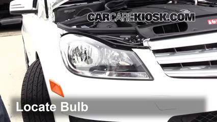 2013 Mercedes-Benz C300 4Matic Sport 3.5L V6 Lights Highbeam (replace bulb)