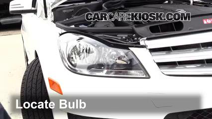 2013 Mercedes-Benz C300 4Matic Sport 3.5L V6 Lights Headlight (replace bulb)