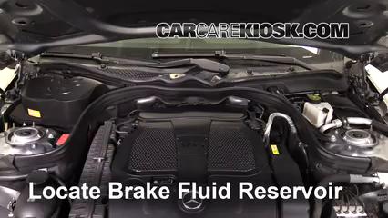 2013 Mercedes-Benz E350 4Matic 3.5L V6 Sedan Brake Fluid Check Fluid Level