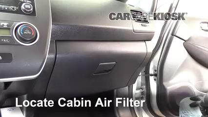 2013 Nissan Leaf SL Electric Filtro de aire (interior) Cambio