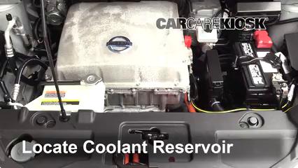 2013 Nissan Leaf SL Electric Pérdidas de líquido Refrigerante (anticongelante) (arreglar pérdidas)