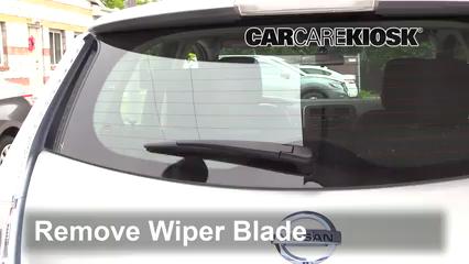 2013 Nissan Leaf SL Electric Escobillas de limpiaparabrisas trasero Cambiar escobillas de limpiaparabrisas