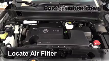 2013 Nissan Pathfinder SV 3.5L V6 Air Filter (Engine) Replace