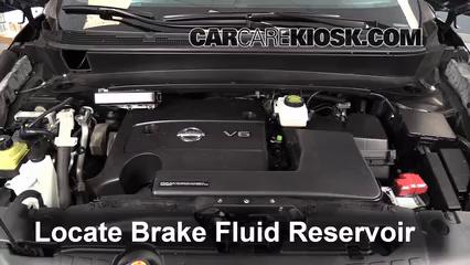2013 Nissan Pathfinder SV 3.5L V6 Brake Fluid