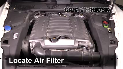 2013 Porsche Cayenne 3.6L V6 Filtro de aire (motor)