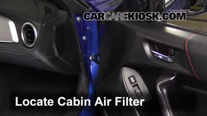 2013 Subaru BRZ Limited 2.0L 4 Cyl. Filtro de aire (interior)