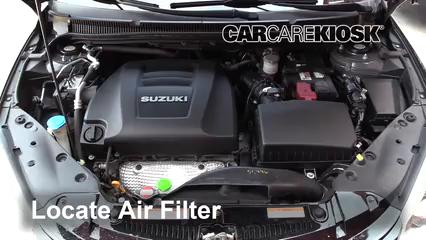 2013 Suzuki Kizashi GTS 2.4L 4 Cyl. Filtro de aire (motor)