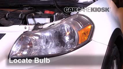 2013 Suzuki SX4 LE 2.0L 4 Cyl. Luces Luz de estacionamiento (reemplazar foco)