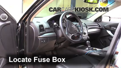 interior fuse box location 2013 2018 acura rdx 2014. Black Bedroom Furniture Sets. Home Design Ideas