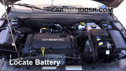 battery replacement 2011 2016 chevrolet cruze 2014 chevrolet chevrolet cruze battery learn where the battery is located
