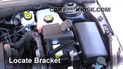 battery replacement 2011 2016 chevrolet cruze 2011 chevrolet 2011 nissan versa battery 4 remove bracket take off the bracket that secures the battery