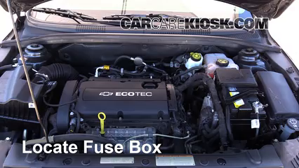replace a fuse 2011 2016 chevrolet cruze 2014 chevrolet cruze lslocate engine fuse box and remove cover