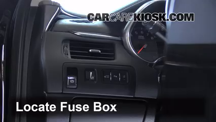 interior fuse box location: 2014-2019 chevrolet impala