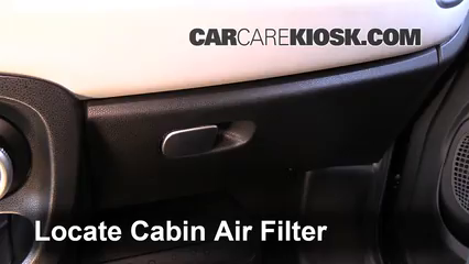 Cabin Filter Replacement: Fiat 500 2012-2017 - 2013 Fiat ...