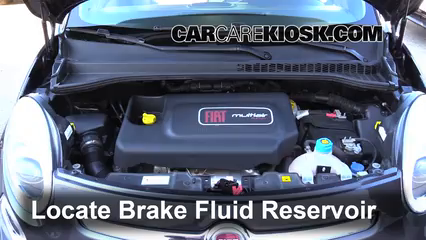 2014 Fiat 500L 1.4L 4 Cyl. Turbo Brake Fluid Check Fluid Level