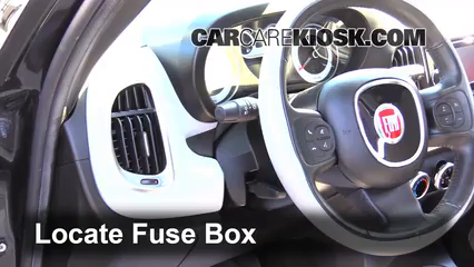 interior fuse box location: 2014-2019 fiat 500l