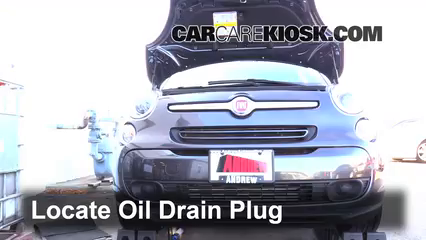 2014 Fiat 500L 1.4L 4 Cyl. Turbo Oil Change Oil and Oil Filter