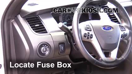 interior fuse box location 2010 2017 ford taurus 2014 ford taurus