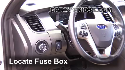 Interior Fuse Box Location: 2010-2019 Ford Taurus - 2013 Ford Taurus SE  2.0L 4 Cyl. TurboCarCareKiosk
