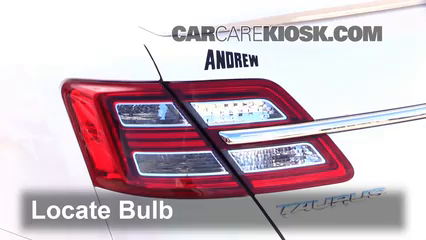 2014 Ford Taurus SHO 3.5L V6 Turbo Lights Tail Light (replace bulb)