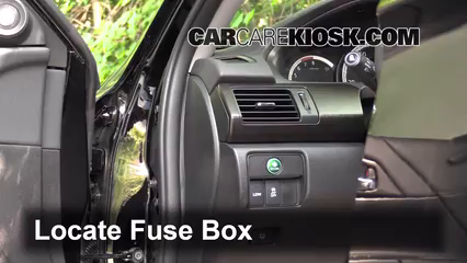 Interior Fuse Box Location: 2013-2017 Honda Accord - 2014 Honda Accord EX-L 3.5L V6 Sedan