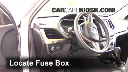 interior fuse box location 2014 2017 jeep cherokee 2014. Black Bedroom Furniture Sets. Home Design Ideas