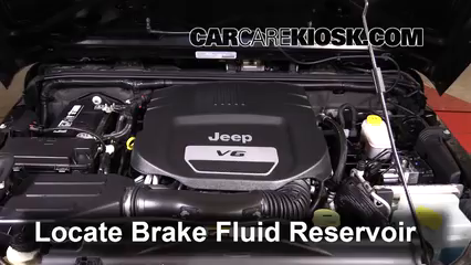 2014 Jeep Wrangler Sport 3.6L V6 Brake Fluid Check Fluid Level