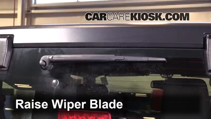 remove rear wiper arm jeep wrangler