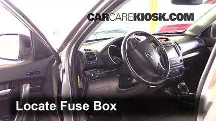 interior fuse box location 2014 2015 kia sorento 2014. Black Bedroom Furniture Sets. Home Design Ideas
