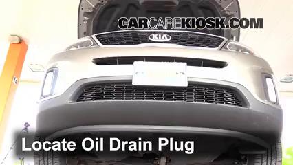 Oil & Filter Change Kia Sorento (2014-2015) - 2014 Kia Sorento EX ...