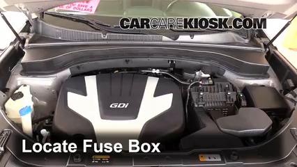 [SCHEMATICS_48EU]  Replace a Fuse: 2014-2015 Kia Sorento - 2014 Kia Sorento EX 3.3L V6 | 2015 Kia Sorento Fuse Box Diagram |  | CarCareKiosk