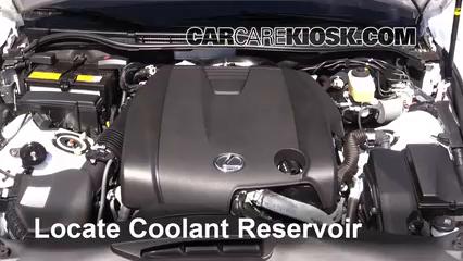 how to add coolant lexus is250 (2014 2017) 2014 lexus is250 2 5l v6 Coolant for Lexus ES 350 locate the coolant reservoir and clean it