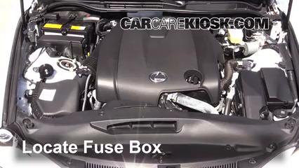 Interior Fuse Box Location: 2014-2019 Lexus IS250 - 2014