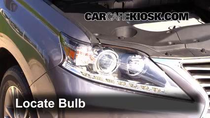 2013 lexus rx 350 bulb size